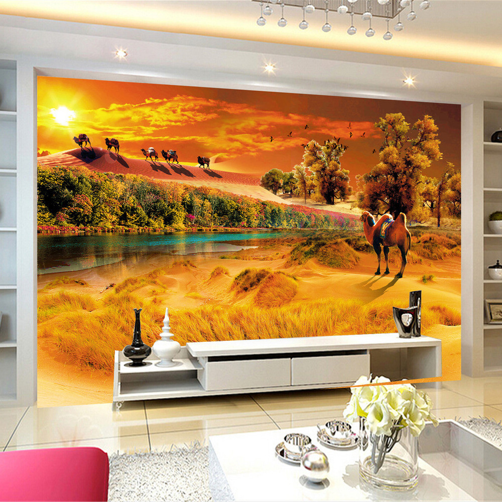 Online get cheap desert wall mural for Desert mural wallpaper