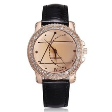 2016 New Rhinestones Watches Women Luxury Brand Womage Fahsion and Casual Ladies Watch Analog Leather Strap