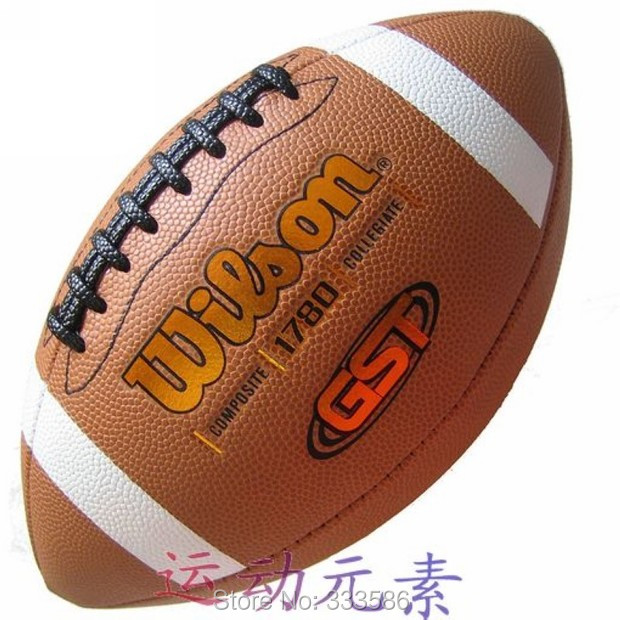 Brand Official Size And Weight American Football Match Professional Rugby Ball With Pump For Match Training Free Shipping(China (Mainland))