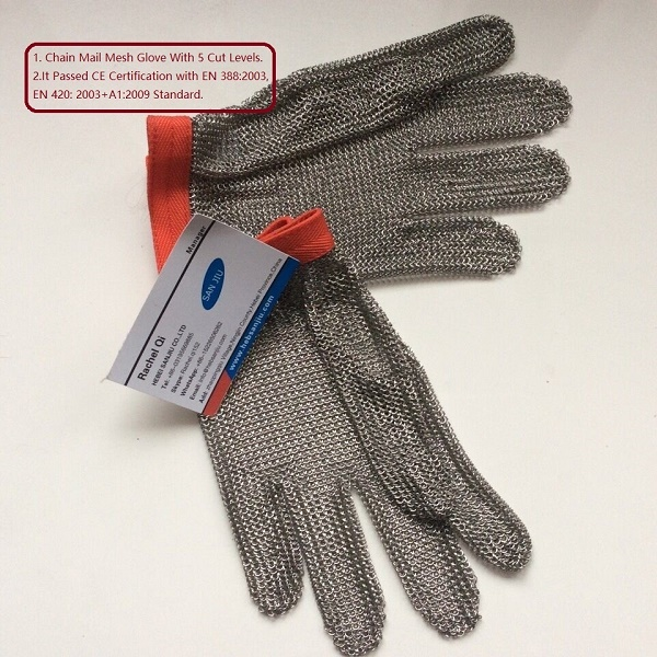 Cut Resistant Proof Gloves Butcher Equipment Tools Safety Gloves Meat Procress Cut Safety Glove Chain Mail Protective Gloves(China (Mainland))