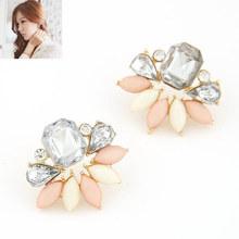 New European Fashion Elegant Classical Rhinestone Resin Swing Drop Resin Big Earrings For Women Statement Jewelry 2015 PD28(China (Mainland))
