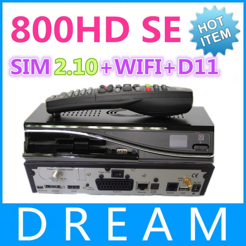 1pcs satellite receiver DM 800 hd se dm 800hd se wifi sim2.10 Linux Enigma 2 400mhz Rev D11 set top box dm800 se free shipping(China (Mainland))