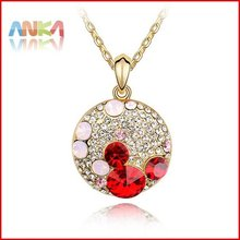 HIGH Quality Free shipping mix wholesale perfect package Allergy free Platinum plating crystal handicraft necklace#82052(China (Mainland))