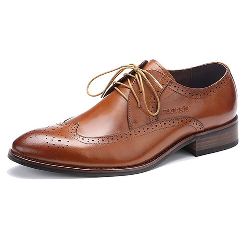promotion man antique finishing leather shoes black & brown color high quality sepia style mens office casual shoes discount hot(China (Mainland))