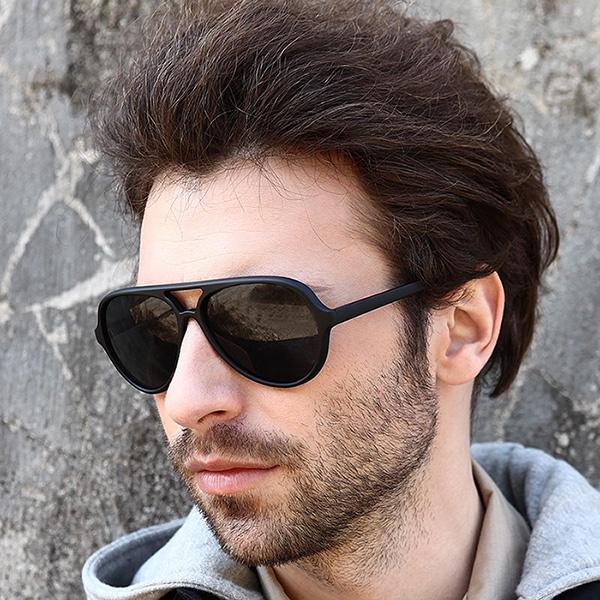 Fashion Men s UV400 Aviator Sunglasses men Driving Mirrors Eyewear Sun Glasses for Men male points