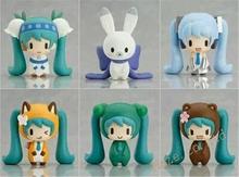 Vocaloid Hatsune Miku Figures Snow Miku 6pcs Set Figurine 2″ New In Box PVC