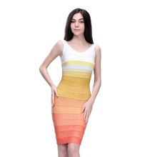 2016 New Arrival Sexy Women Clothes White Pink Pencil Dress Evening Party Elegant Celebrity HL Bandage Bodycon Dress Wholesale(China (Mainland))