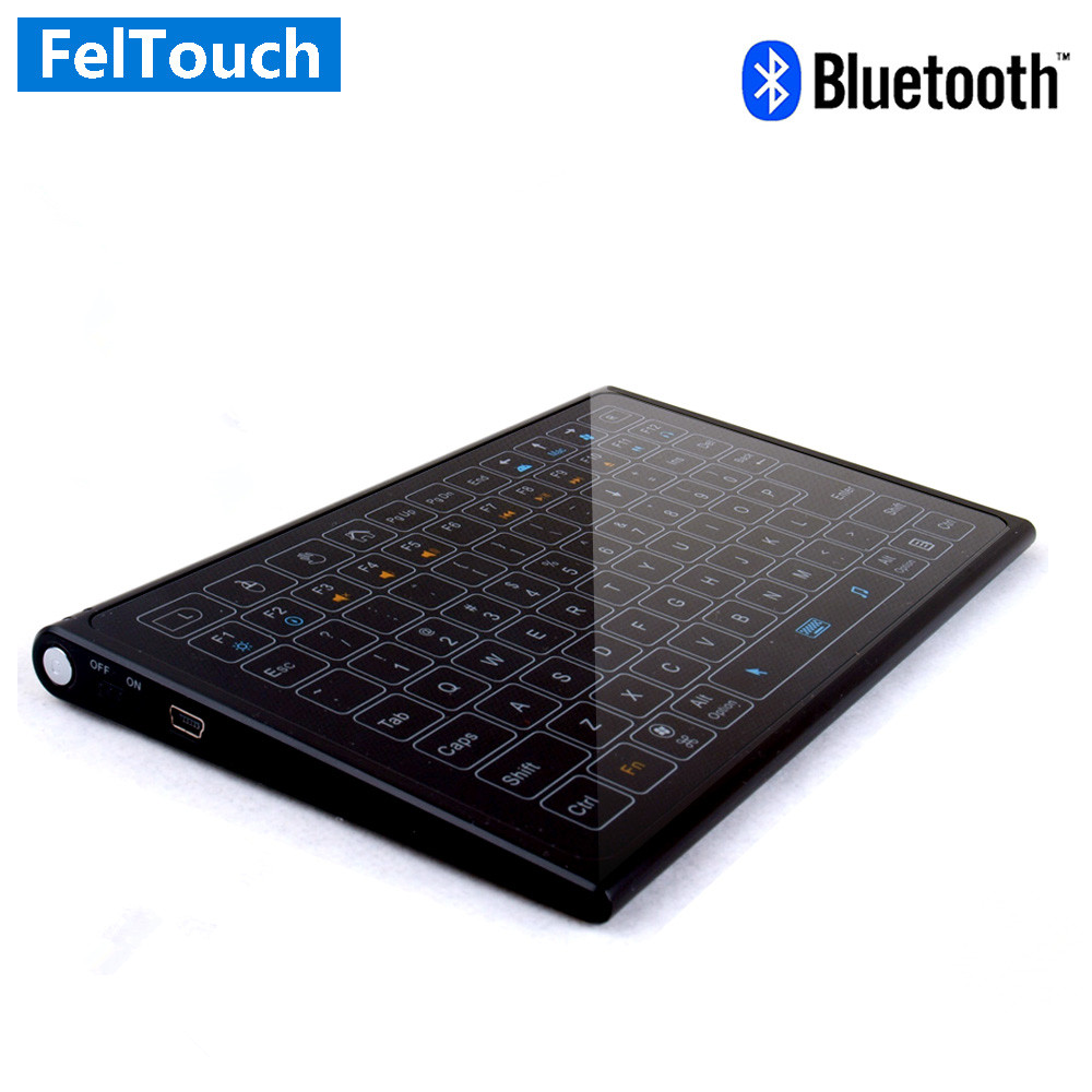 Bluetooth Touchpad Magic Keyboard Toughened glass Backlit keyboard For iMac For ipad pro Andriod Windows for imac tablet pc(China (Mainland))