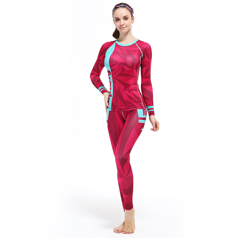 top quality sports fitness clothing set compression