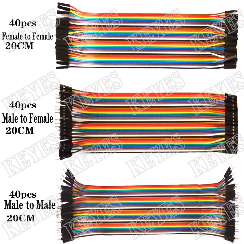 Гаджет  Free shipping ! Dupont line 120pcs 20cm male to male + male to female and female to female jumper wire Dupont cable for Arduino None Электронные компоненты и материалы