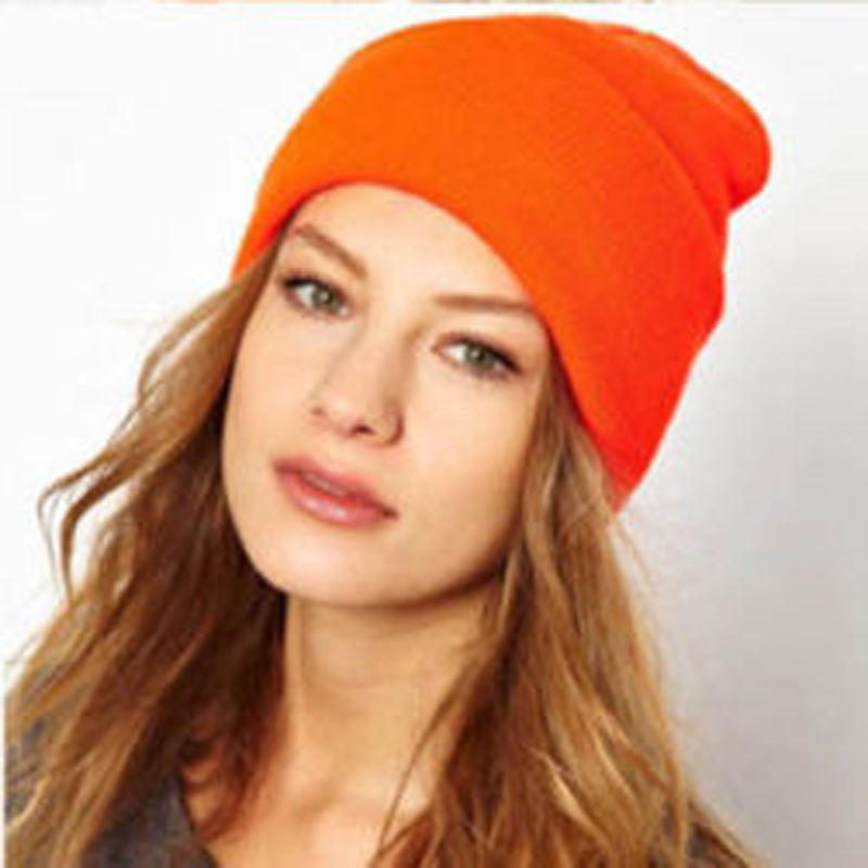 1Pcs High Quality Orange Fashion Unisex Hats Winter Caps Hats Beanies Chapeu Feminino Toucas De Inverno Winter Hat For Women(China (Mainland))