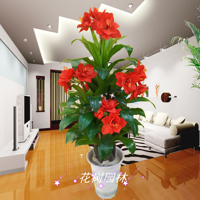 Large Flower Decoration Lucky Four Indoor Flower Floor
