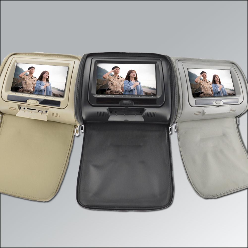 "Universal Car Headrest DVD Player 7"" inch LED Digital Screen zipper Support HDMI USB FM TV Game IR Remote car headrest monitor(China (Mainland))"