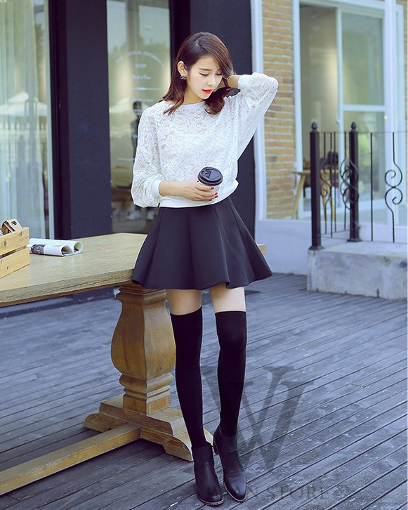 2015 NEW 4 Colors Fashion Sexy Knit Thigh High Over The Knee Socks Long Cotton Stockings For Girls Ladies Women Wholesale(China (Mainland))