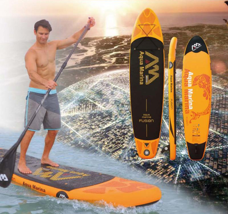 AQUA MARINA 11 feet 15CM thickness FUSION inflatable sup board stand up paddle board inflatable surfboard Korea import materials(China (Mainland))