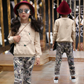 New spring autumn children s clothing suits flower children hoodies pants children tracksuit gril clothes set