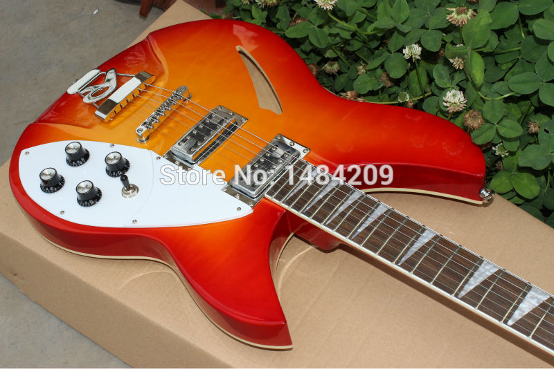 new arrival+free shipping+ Richenbacker custom honey burst color electric guitar, Richenbacker electric guitar!<br><br>Aliexpress
