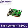 Linsn TS802D linsn sender TS802 LINSN controller sending card for LED video RGB full color display