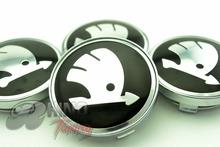 4PC*60mm Car Wheel Hubs Caps Badge for Octavia Fabia Yeti Super Auto Car Wheel Center Emblem 247(China (Mainland))