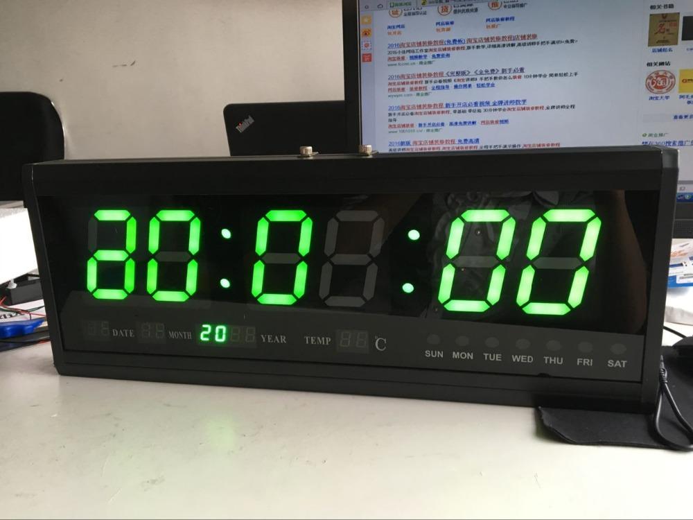 DHL Free shipping Aluminum Large Digital LED Wall Clocks Big Watch Modern Design Home Decor Decoration(China (Mainland))