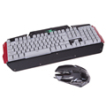 Wired USB Gaming Keyboard 104 Key Three Colors LED Backlight Keyboard with mouse Gaming Combo for