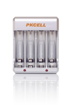 1Pcs*PKCELL 8174 AA/AAA/NICD/NIMH Battery Charger for Rechargeable Batteries EU/UL Plug