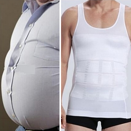 Men Slim Body Shaper Vest Tops Shirt Tummy Waist Underwear Beer Belly Slimmer 8ZBG(China (Mainland))
