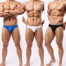 Free Shipping 2015 New Stylish Men's Swim Briefs Swimwear Swimsuit Fashion Solid Letter Printed Beachwear Shorts Underwear S-L