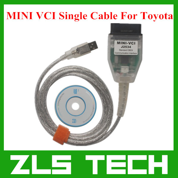 2015 Latest MINI VCI for Toyota TIS Techstream V10.10.018 Single Cable MINI VCI for Toyota J2534 Diagnostic Tool Free Shipping(China (Mainland))