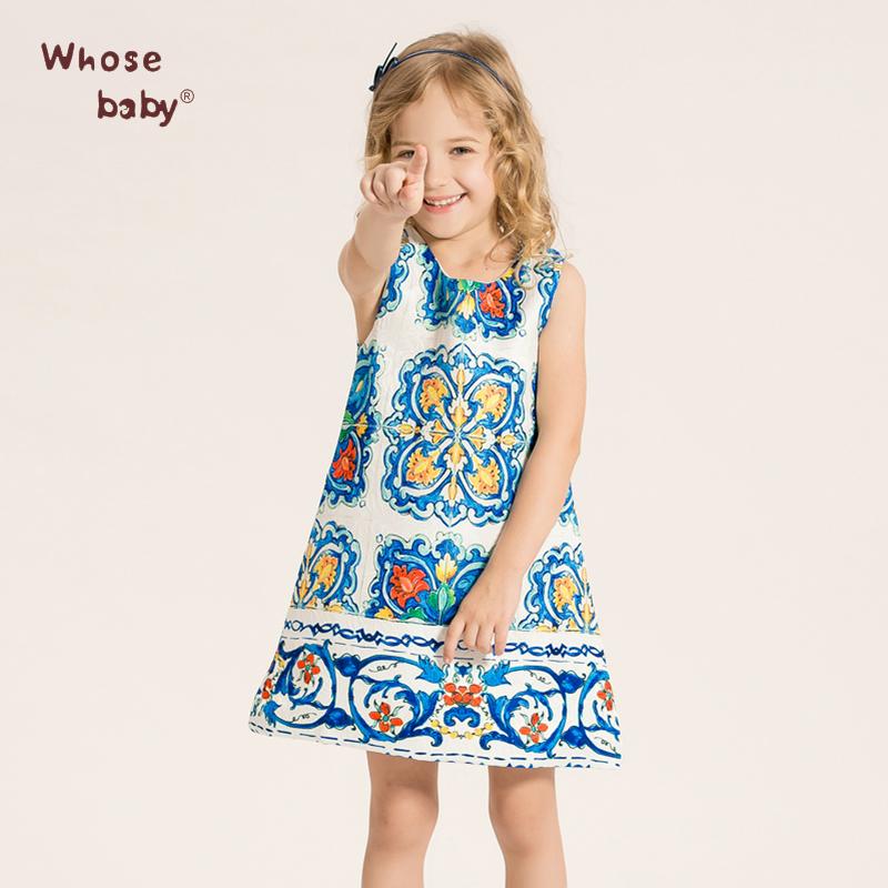 Whosebaby Princess Dress Baby Girls Dresses 2016 Brand Children Dress Kids Clothes Kids Dresses for Girls Costumes(China (Mainland))