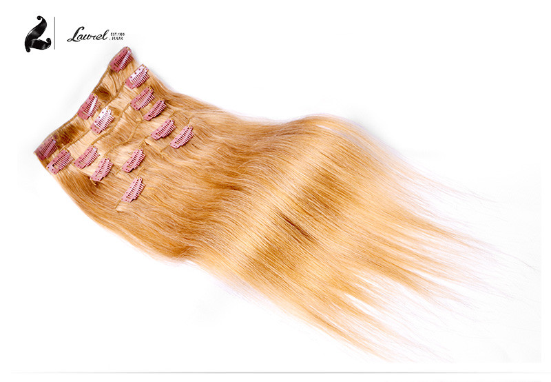 Brazilian Virgin Hair Clip In Extension Silky Straight Laurel Hair Products Brazilian Clip In Human Hair Extensions 9 Colors