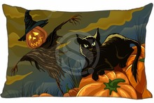 Buy H#P-485 Custom Rectangle Zippered Pillow Case High Halloween#76 Pillowcases 35x45cm (One Side) SQ00820-@H0485 for $3.54 in AliExpress store