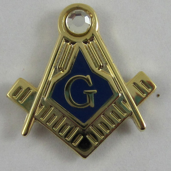 M001 19mm Lapel Pin Blue Lodge Masonic Freemason Brooch Wholesale gift brass material rhinestone lapel pin<br><br>Aliexpress