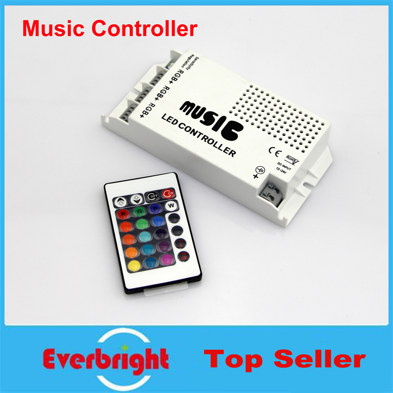 New Arrival 12-24V 24 Keys Wireless IR Remote Control LED Music Sound Control RGB led Controller Dimmer for RGB LED Strips(China (Mainland))