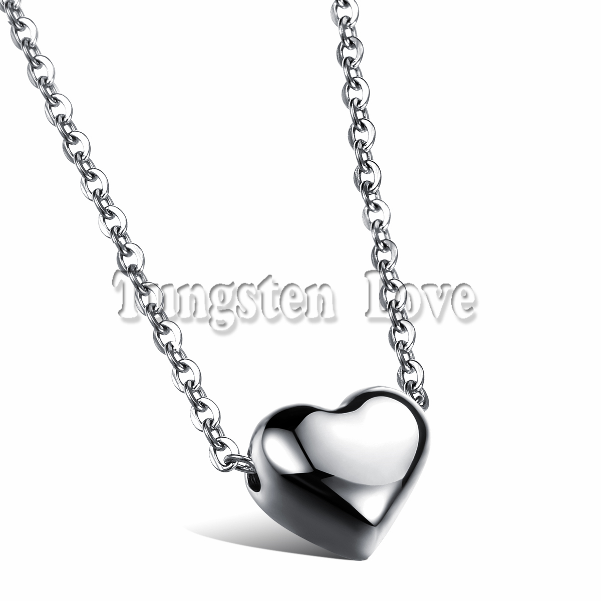 Fashion Heart Pendant Woman Collarbone Necklace Romantic Silver Stainless Steel Chain Women Jewelry collares mujer(China (Mainland))