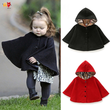 Buy AD Fashion Girls Cloak Autumn Winter Kids Children's Clothing Clothes Baby Girls Coats for $18.99 in AliExpress store
