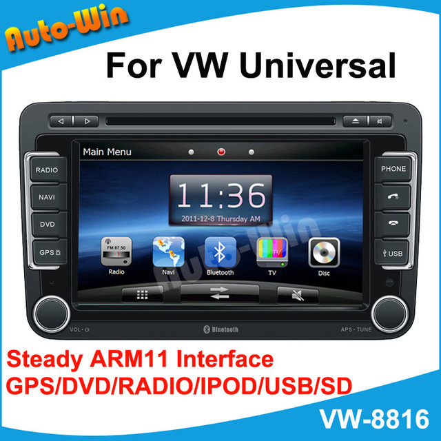 "7""Car DVD GPS for Volkswagen Universal with Steady ARM11 Interface GPS/DVD/RADIO/IPOD/USB/SD/PIP"