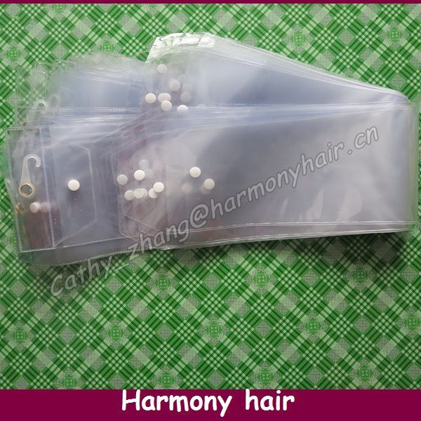 "FREE SHIPPING! PVC Packaging For Weave Hair Packaging Bags (30 pieces/lot 5.25"" width*14"" inner length ) usded to pack 14"" hair(China (Mainland))"
