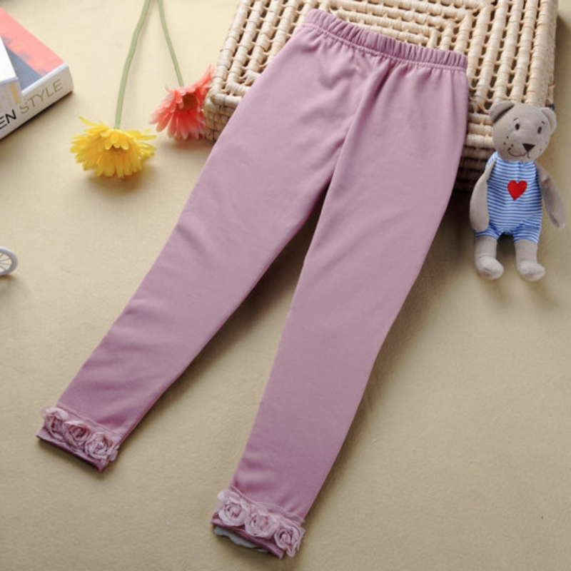 Comfort Baby Kids Girls Cotton Stretchy Warm Floral Pants Leggings Trousers 2-7Y 4558<br><br>Aliexpress