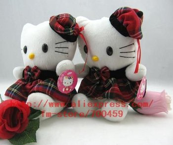 Hot sale! lots 1pcs hello kitty Children's lovely doll soft Toy Plush Toys A6 +Free Shipping 01