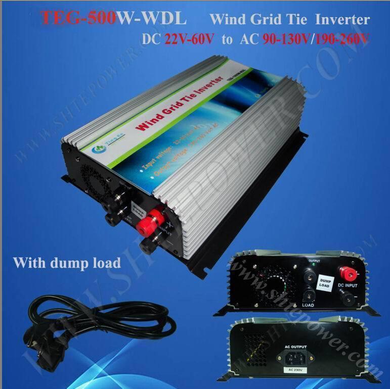 On grid tie wind power 500w converter 24v 220v(China (Mainland))