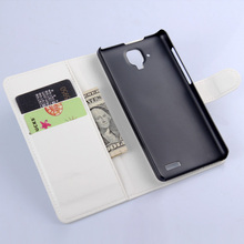 Lenovo A536 phone case luxury litchi texture wallet style flip pu leather cover Lenovo A536 magnetic