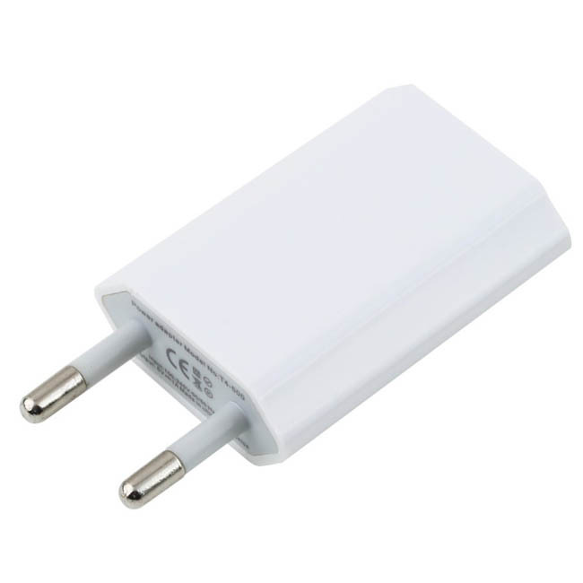 5 pcs/lot NEW AC EU plug USB Wall Charger for iphone 5 5s 4 4s charger free shipping(China (Mainland))