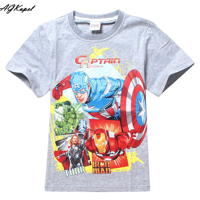2015 Brand T Shirt Captain America Children Kids Baby T
