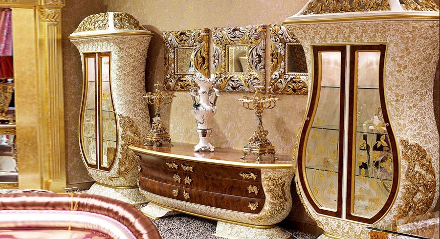 european style luxury living room set imperial embossment