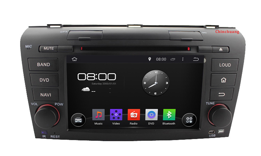 Android 4.4 HD 1024*600 Car DVD player for Mazda 3 2004-2009 GPS+Dual Core Contex A9 1.6 GHz, BT, RADIO, RDS, Free 8G Map(China (Mainland))