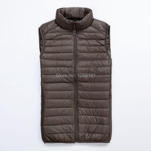 100% white  duck down Jackets New arrival fashion Men's Vest winter overcoat outwear winter Fur  Coat
