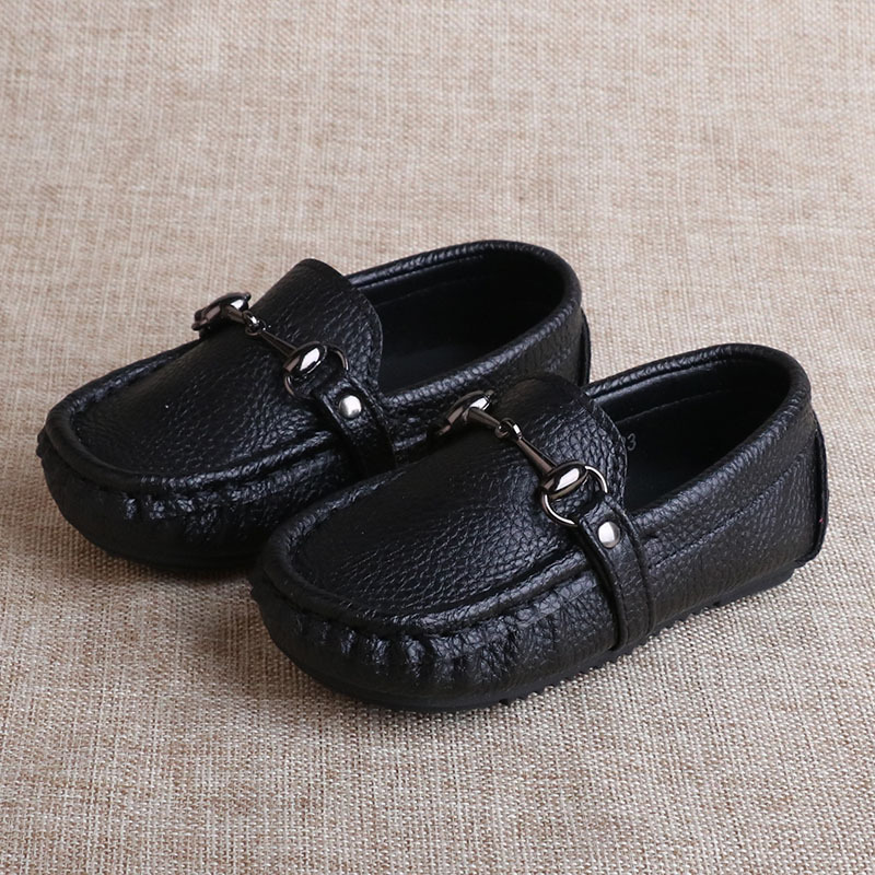 2016 Children Leather Shoes Soft Boys Leather Loafers Moccasins Kids Boys Sneakers Breathable Children Casual Shoes Slip On(China (Mainland))