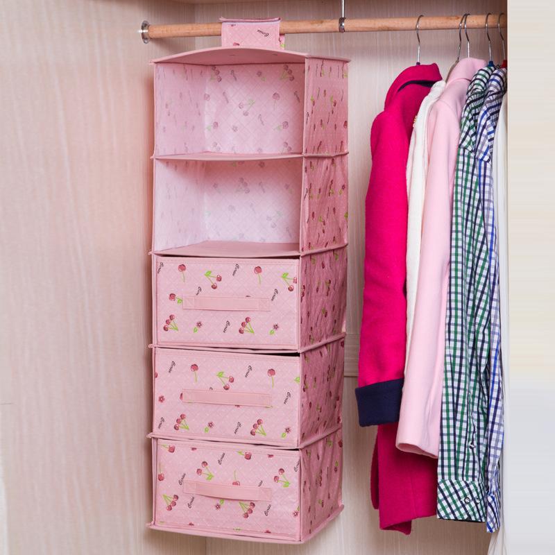 Wardrobe hanging storage bag Waterproof clothing storage bag with drawers for choose(China (Mainland))