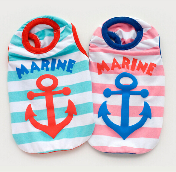 15051 Petco Dog Supplies Pet Clothes Dog Costumes Apparel Wear Dog T-shirt Vest Sailor Fashion Design 1PC(China (Mainland))